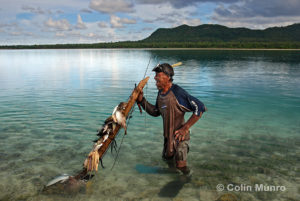 Old tongan spear fisherman, Hakautu'utu'u islet, Niuatoputapu Island lagoon, Tonga